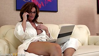 Busty cougar Deauxma gets hammered hard by Keiran Lee