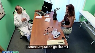 Amazing Nicole comes to visit her doctor and fucks with him badly
