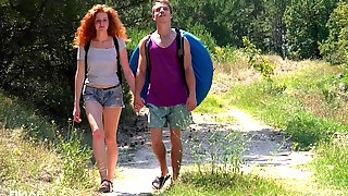 Picnic in the wild nature turns to a sex adventure for Foxy Lee