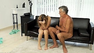 Old man with Czech babe