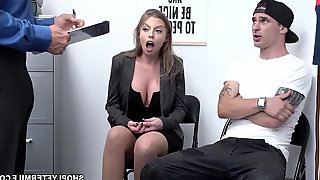 OMG! This is so embarassing! Britney Amber and her son are caught shoplyfting and the son must witness his mommy give the LP officer a blow-job!