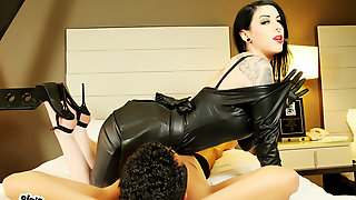 Morgan Chase in Ms. Morgan Chase Strips Out Her Sweaty Leather - MeanGirlsVR
