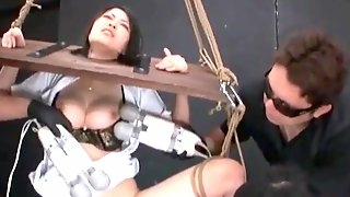 Asian Slut Dominated By Multiple Vibrators On Home Made Devices