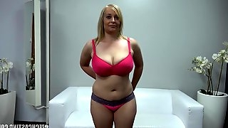 Czech Casting with hot blonde slutty milf