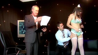 Kinky escort Katie Kaliana enjoys getting fucked by three guys