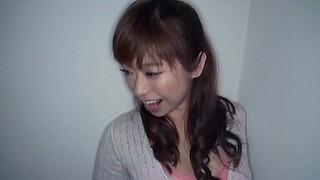 POV video of a skinny Japanese stranger giving a nice blowjob