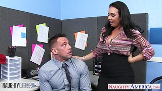 When your unmasculine colleague is craving for orgasm right in burnish apply office