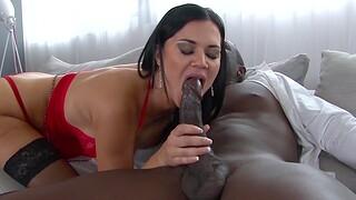 Busty sex length Jasmine Jae enjoys getting fucked by a funereal dude