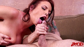 Cum eating babe Britney Amber enjoys getting fucked by a neighbor