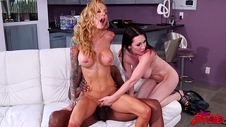 Horny models rate getting fucked hard by four black dudes