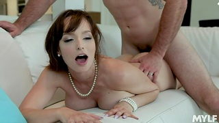 Tantalizing milf Lexi Luna is coitus with hot blooded guy with big weasel words J Mac